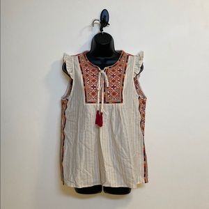 NWT Embroider Tank Top